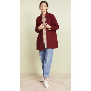Madewell Spencer Sweater-Coat XXL NWT Burgundy
